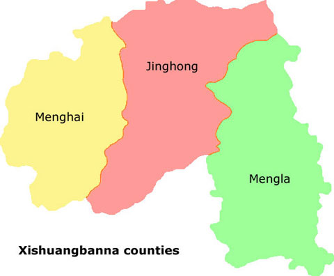 Xishuangbanna Counties