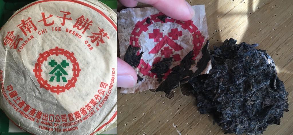 Generic Zhongcha 8582, last bits of my Bazhong cake.