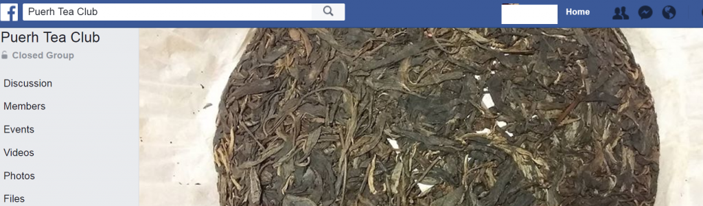 Facebook Pu'erh Tea Club Group