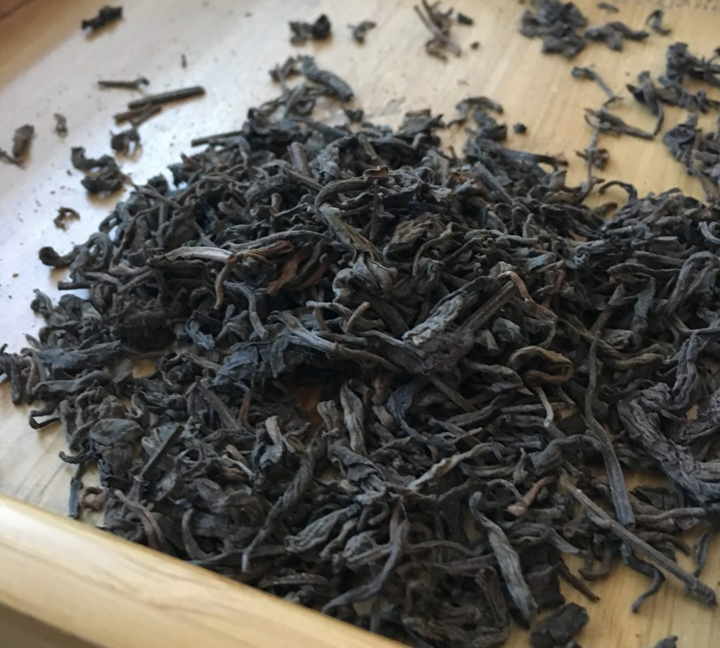 Some lightly traditionally stored loose leaf ripe