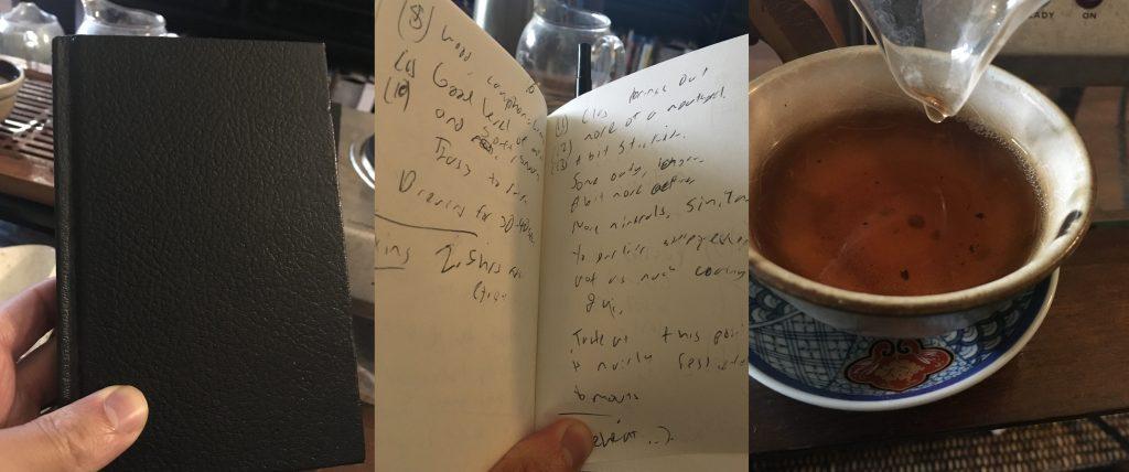 Taking Tasting Notes.